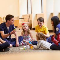 Nursing students with children