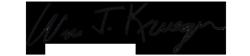 Bill Krueger signature
