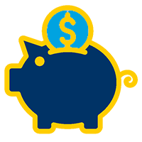 Benefits and Discounts - Piggy Bank Image