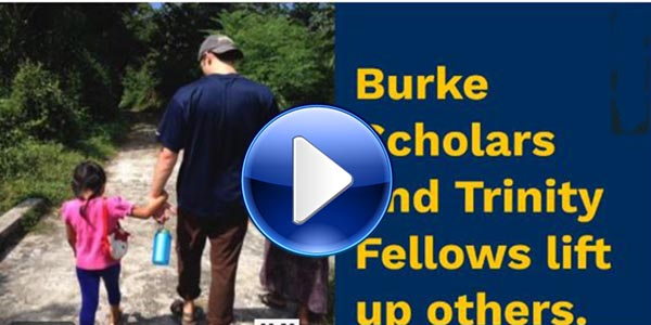 Watch a video about service-driven scholarship in partnership with the Burke Foundation