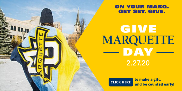 Join us on Give Marquette Day, Feb. 27, 2020